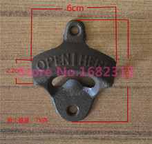 Chic Vintage Antique Iron Wall Mounted Bar Beer Glass Bottle Cap Opener Kitchen Tools Bottle Opener Beer Opener Without Srew(China (Mainland))