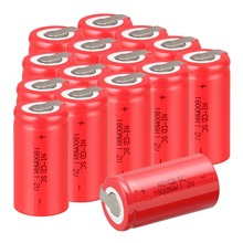 15 PCS SC sub C battery rechargeable battery 1800mah Ni-CD with tab 4.25*2.2cm(China (Mainland))