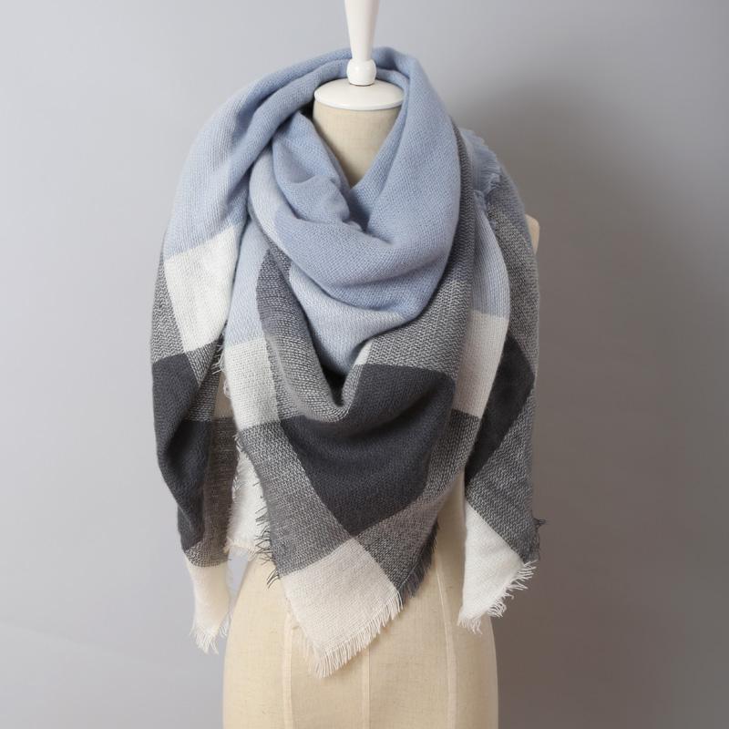 2016 Winter luxury Brand New Women Fashion Scarf Oversize Blankets Wrap Soft Cashmere plaid Square Shawl Size Pashmina Scarves(China (Mainland))