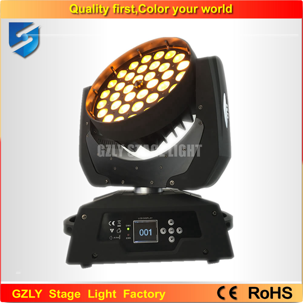 Free shipping 2pcs/lot zoom led moving head wash 580w 6 in 1 led movinghead(China (Mainland))