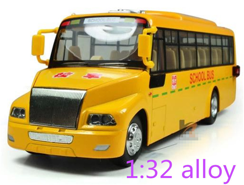 American school bus real voice Cars model alloy cars children educational gift big scchool bus model free shipping(China (Mainland))