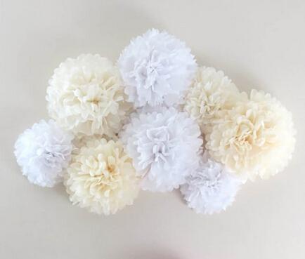 Paper Pom Poms Flower Balls Wedding Party Tissue Paper Pompoms Wedding