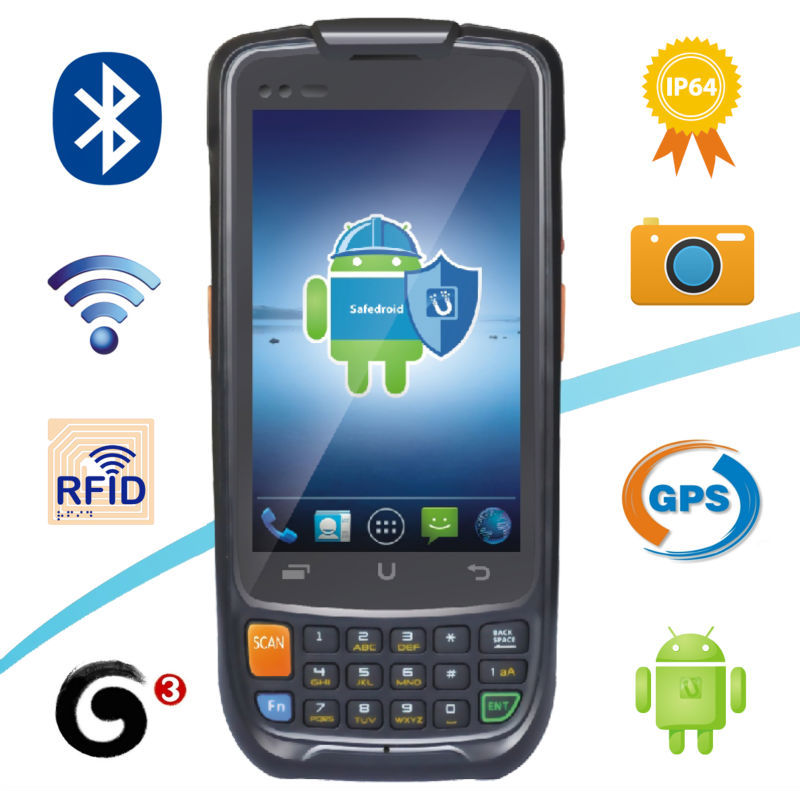 China Best Quality Android industry PDA Terminal 3G GPRS WIFI GPS Quad Core Handheld Android Multifunctional PDA(China (Mainland))