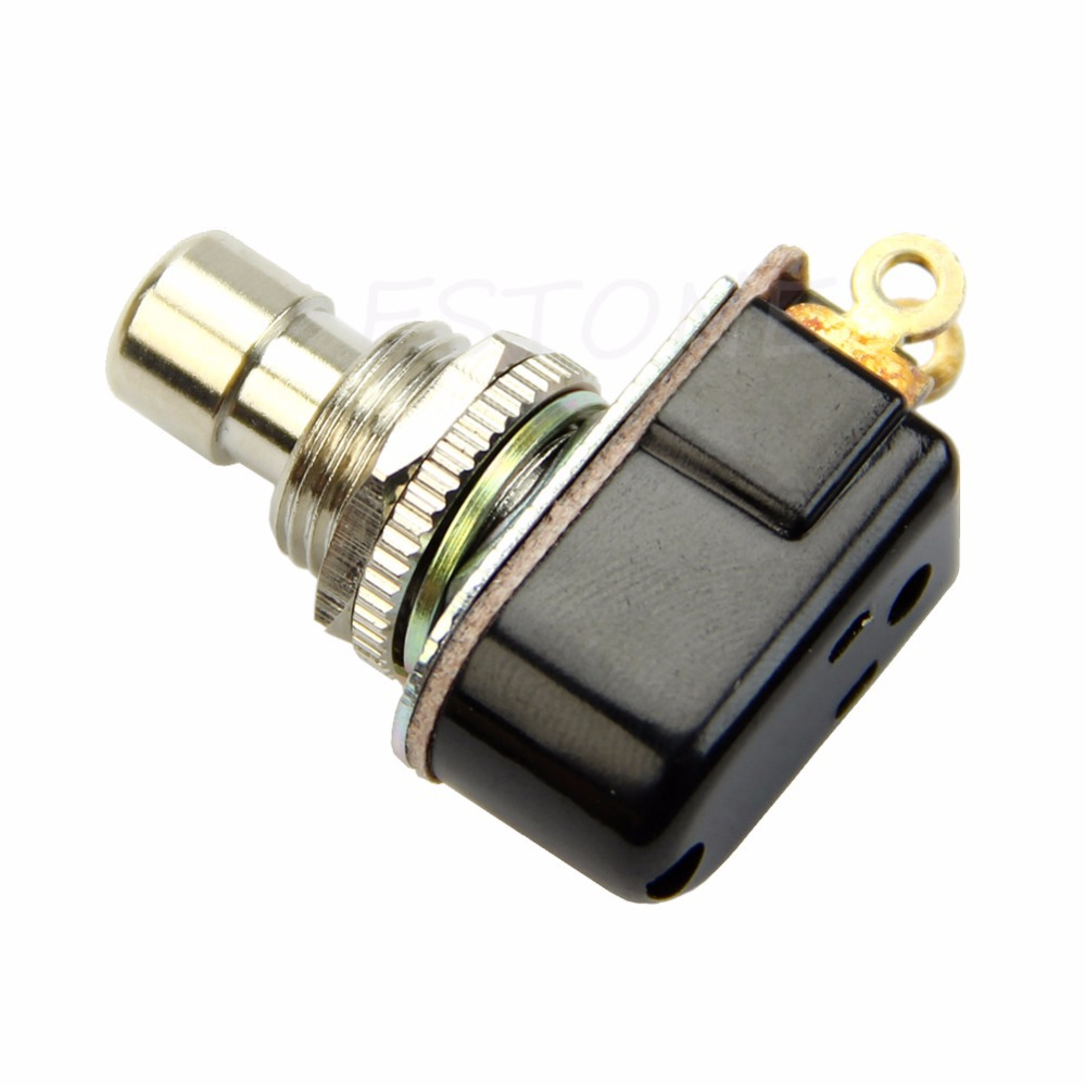 SPST Momentary Soft Touch Push Button Stomp Foot Pedal Electric Guitar Switch