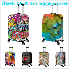 Designer Elastic 18-30 inch Luggage Protective Cover Thick Travel Luggage Dust Cover Waterproof Suitcase Cover Free Shipping(China (Mainland))