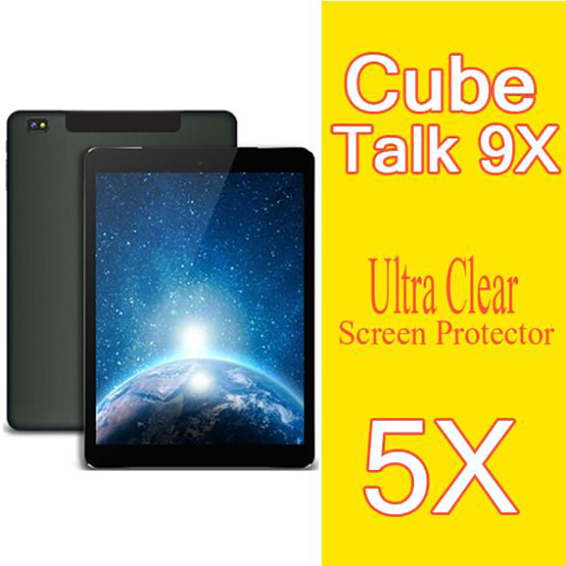 5X For Cube Talk 9X Screen Protector,Clear Glossy HD LCD Film For Cube Talk 9X U65GT Tablet PC Protective Guard Cover Film(China (Mainland))
