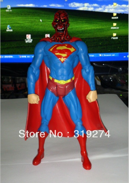 """Wholesale/Retail Free Shipping Promotion Toys New DC Comics Super Man Zombie Superman 7""""/18cm Loose Action Figure Type B(China (Mainland))"""
