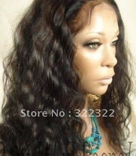 cheap 18 1b# loose curl indian remy hair glueless full lace stretched cap lace wig<br><br>Aliexpress