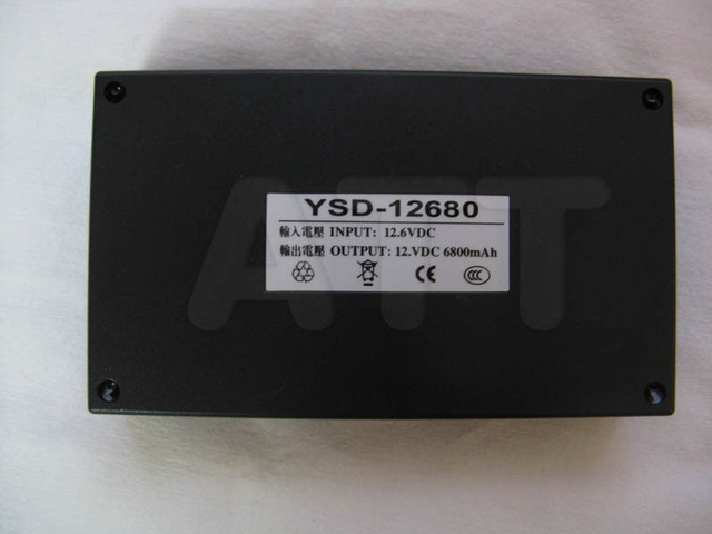 Free shipping Portable Super Capacity Rechargeable Lithium-ion Battery Pack DC 12V 6800mAh for CCTV Cam