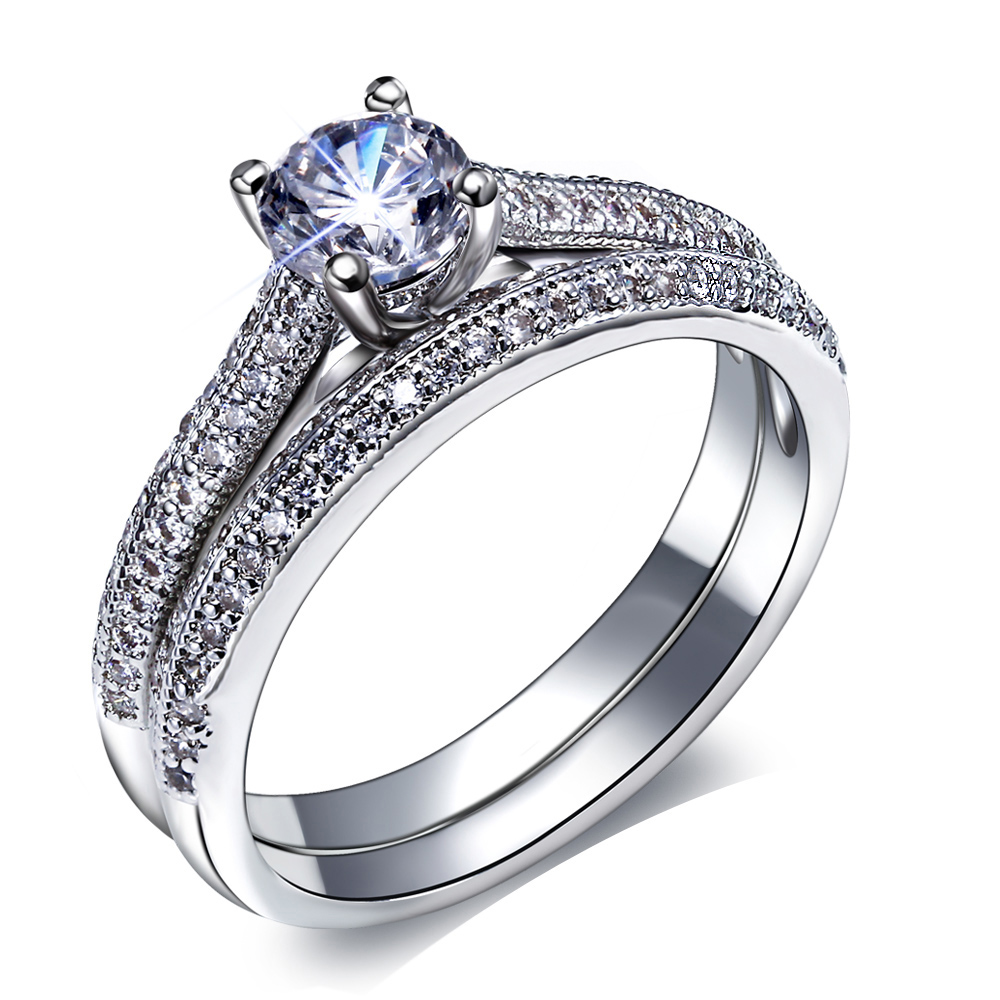 Sale White Gold Engagement Ring