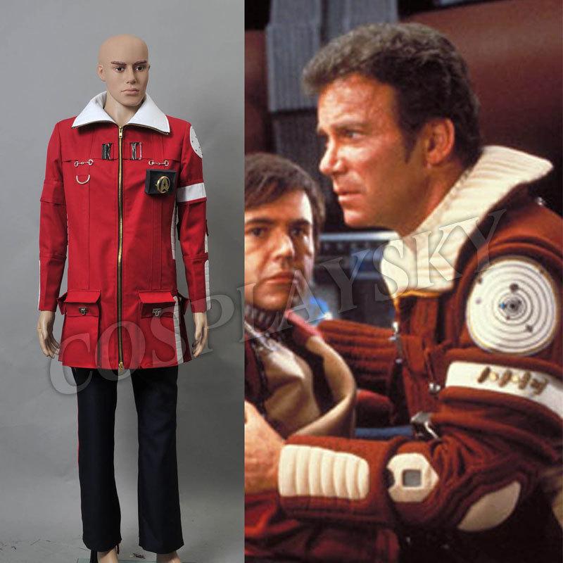 Star Trek II The Wrath of Khan Admiral Kirk Field Coat Pants Costume(China (Mainland))