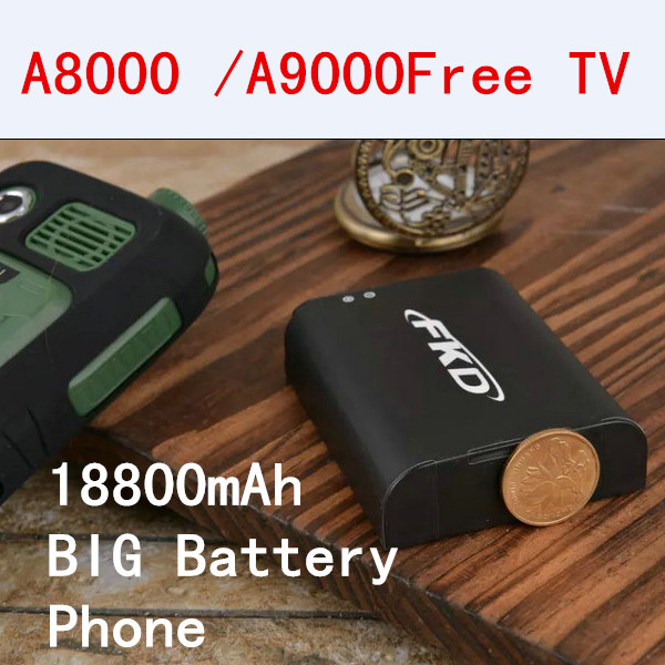 2015 new phone A8000/ A9000 18800mAh long standby power bank torch TV FM big capacity battery Russian Dual SIM cell mobile phone(China (Mainland))