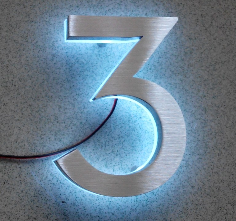 number three LED House Numbers  size H100MM white LED white LED<br><br>Aliexpress