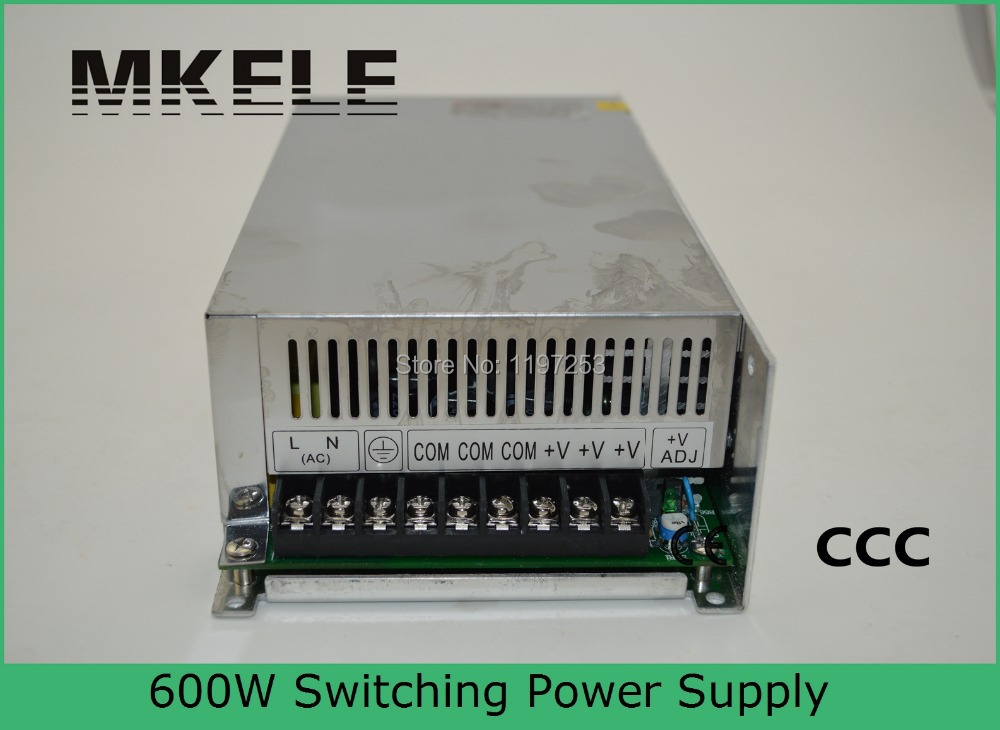 Фотография S-600-12 50A CE approved high quality ac to dc single output 12v 600w power supply 12v dc with metal enclosure made in China
