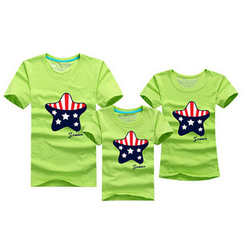 Cartoon Family Matching Outfits T-shirt 9 Colors Clothes For matching family clothes mother father daughter son Top Clothing