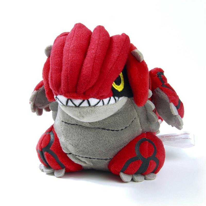 18cm Pokemon Groudon Plush Toys Cute Groudon Stuffed Toy Doll Birthday Christmas Gift Anime Toy Figure Toy(China (Mainland))