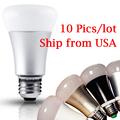 Free shipping 10 Pics RGB Smart Light Bulb Work Like Hue Bulb Use Wireless IR Remote