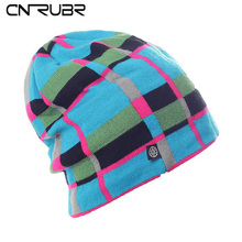 CN-RUBR High Quality Casual Ski Hat Winter Snowboard Skating Unisex Caps Warm Plaid Knitting Beanies Christmas Gifts For Women(China (Mainland))