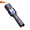 Aluminum Led Rechargeable Flashlight with Charger Usb 10W 350lumen CREE XM L T6 Powerful Led Flashlight