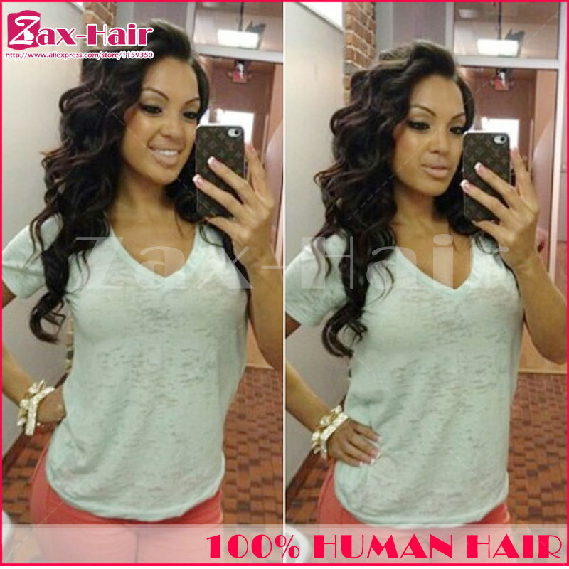 Stocked brazilian u part wig virgin human hair 2014 New Arrival color #1 #1b #2 #4 Middle/left/right for black women top qualtiy