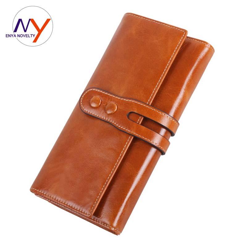 Novelty Women Wallets Brand Design High Quality Women Clutch Long Credit Card Wallet Carteira Feminina Genuine Leather Wallet<br><br>Aliexpress