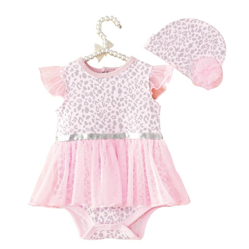 2015 Summer Hot Baby Girls Bodysuits + Hat Newborn Infant Leopard Print Set Kids Clothes Carters Brand Jumpsuit Bebe Wear(China (Mainland))