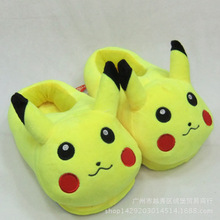 Anime Cartoon Pokemon Elf Ball Pikachu Eevee Umbreon Plush Shoes Home House Winter Slippers for Children