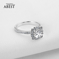 Luxury 4 Carat NSCD Synthetic Simulated <font><b>Diamond</b></font> <font><b>Ring</b></font> for Women 925 Sterling Silver Engagement <font><b>Rings</b></font> Sona <font><b>Diamond</b></font> Wedding <font><b>Ring</b></font>