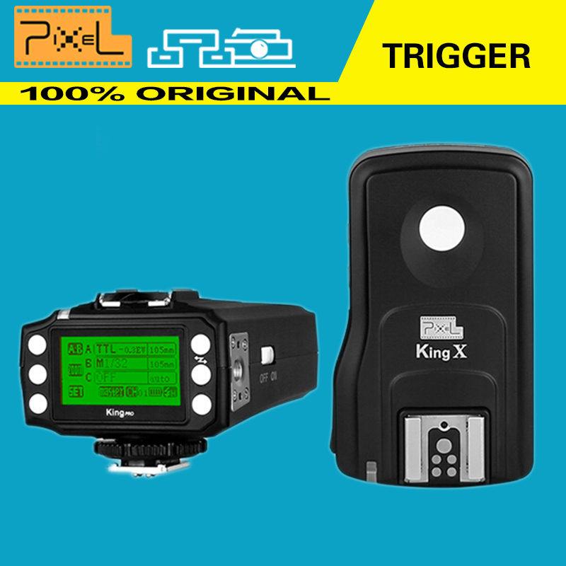 PIXEL 3rd King Pro generation wireless TTL flash trigger for Canon 6D 7D 5D Mark II 5D Mark III(China (Mainland))