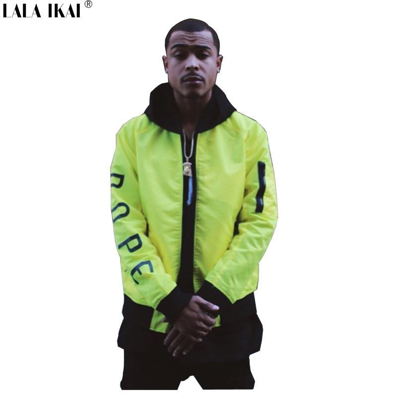 Fluorescence Letter Thick Jacket Men Hip Hop Swag Bomber Jackets Men Windbreaker Winter Windrunner Coats Men 2015 SMC0221-4.5