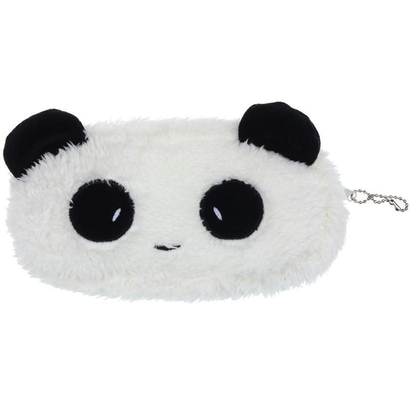 Гаджет  Newly Design Plush Panda Pen Pencil Case Cosmetic Makeup Bag Zipper Coin Purse Wallet June30 None Камера и Сумки
