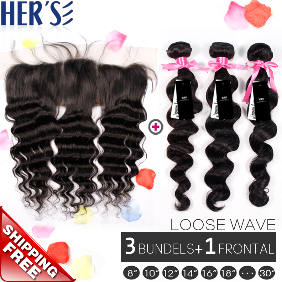 Здесь можно купить  Malaysian Loose Wave Virgin Hair 3PCS With Closure 13x4,Human Hair Bundle With Frontal Closure,Hair Bundles With Lace Closures  Malaysian Loose Wave Virgin Hair 3PCS With Closure 13x4,Human Hair Bundle With Frontal Closure,Hair Bundles With Lace Closures  Волосы и аксессуары
