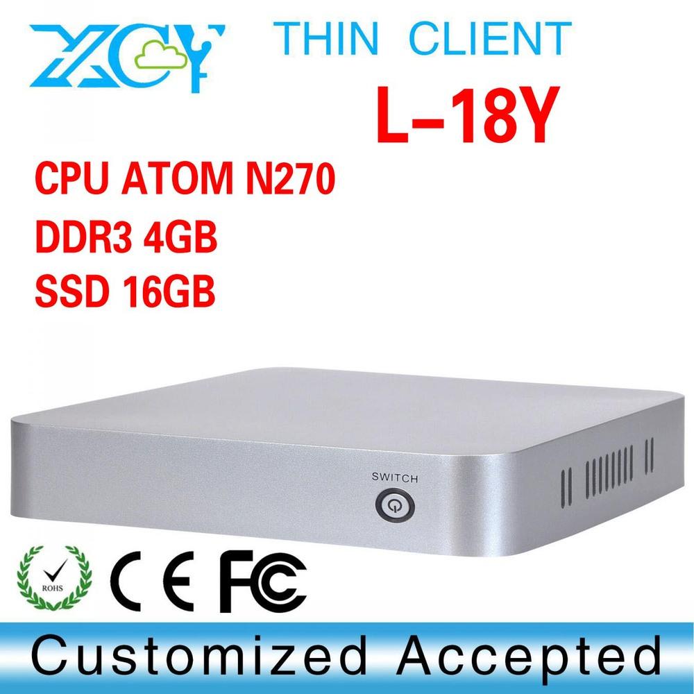 Top Spec Mini Pcs. XCY L-18Y wireless thin client N270 mini pc linux server(China (Mainland))