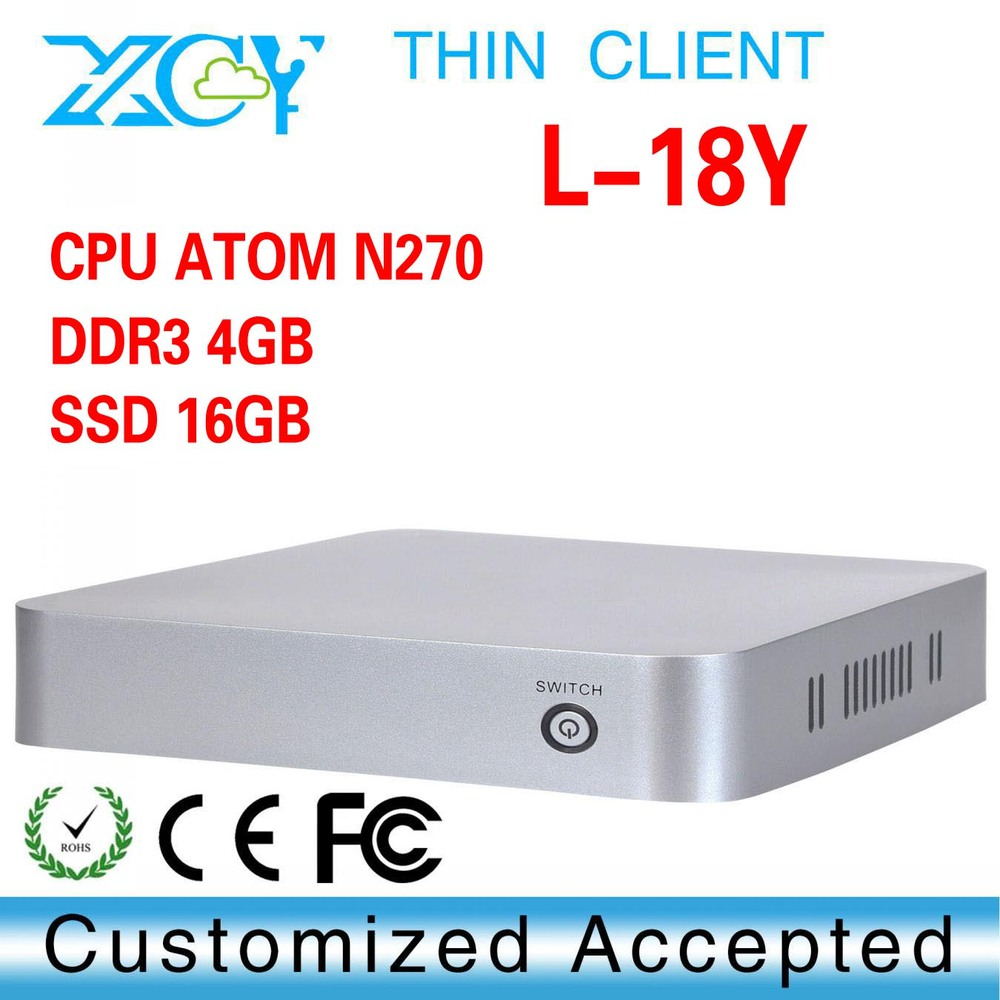 Top Spec Mini Pcs. XCY L-18Y wireless thin client N270 mini pc linux server(China (Mainland))