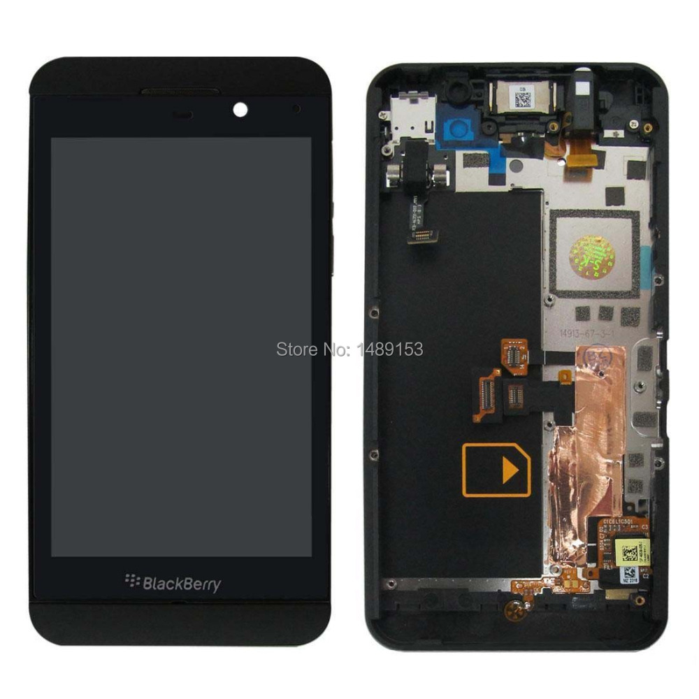 For BlackBerry Z10 3G New Black LCD Display Panel Screen + Digitizer Touch Sreen Glass Assembly With Frame Housing(China (Mainland))