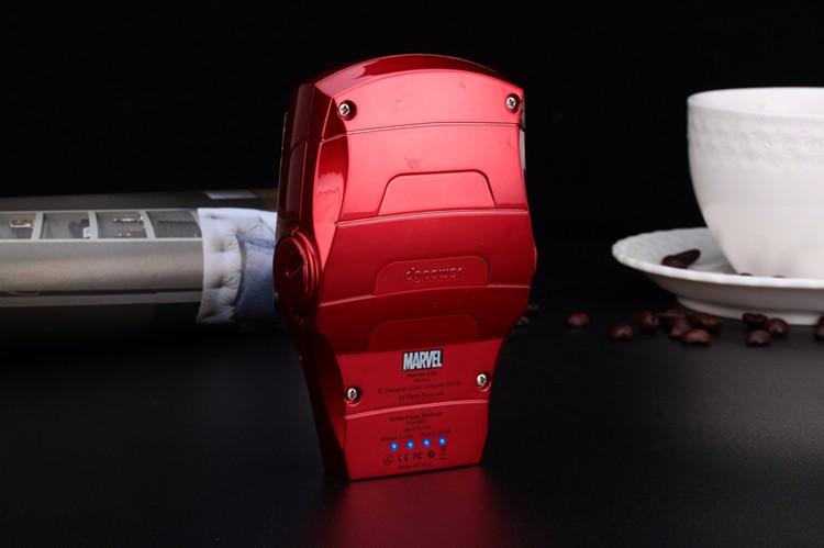 Iron Man Cartoon Mobile Power. Iron Man Portable Charging Treasure 10,000 Ma Mobile Phone Charger For xiaomi power bank