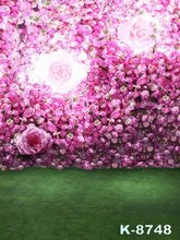 Pink Flowers Decor Photos Backgrounds Cloth Photographic Vinyl Photos Studios Green Screen Wedding Digital Backgrounds