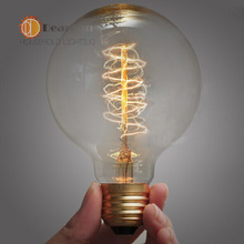 G80(Spiral Silk) Good Price,Vintage Incandescent Edison Bulb For Decoration,E27/110v-220V/40W, Antique Vintage Edison lamp Bulb(China (Mainland))