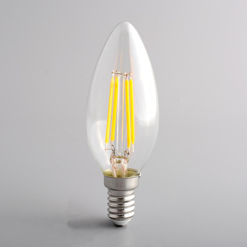 Edison Style Vitange Antique E14 Spiral Candle Light Office Exhibition Lamp Artistical Decor Bulb C35 Warm White(China (Mainland))