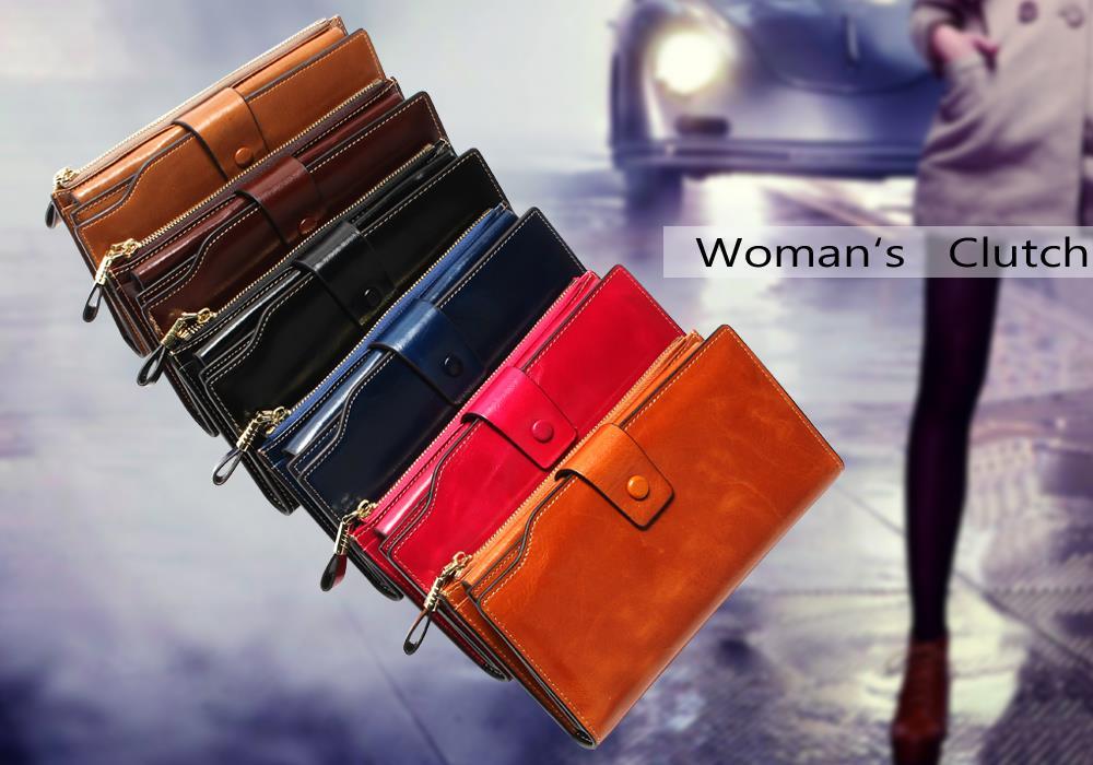 HTB1XLTAOpXXXXaTXVXXq6xXFXXX4 - 2018 New Design Fashion Multifunctional Purse Genuine Leather Wallet Women Long Style Cowhide Purse Wholesale And Retail Bag
