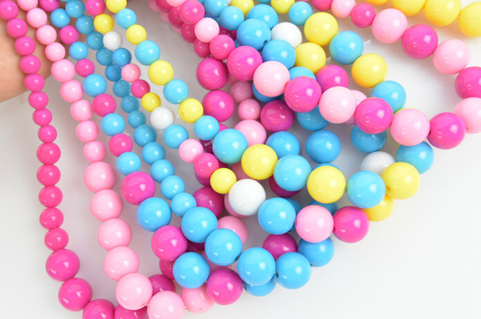 2015 New !Fashion jewelry chunky chain acrylic beads necklace+bracelet For your cute Child/kids/girls(China (Mainland))
