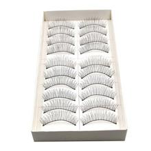 Deliacte 10 Pairs lot Long Thick Soft Handmade Fake False Eye Lash Makeup Extensions Jun5 Hot