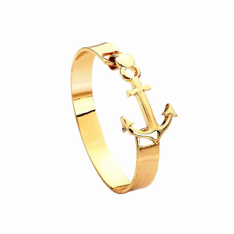 2015 New Arrival Fashion Jewelry stainless steel gold Anchor Bracelet men pulseras Best Friend Gift