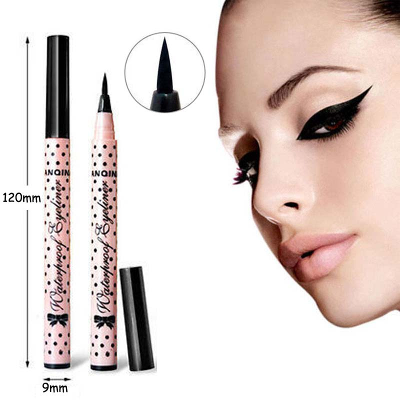 4 pcs New Smooth Waterproof Liquid Eye Liner Eyeliner Pen Make up Cosmetic Black Magic Maquiagens Rimel Colossal Delineador(China (Mainland))