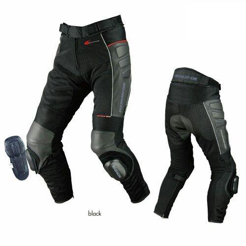 2014 New arrival Komine PK-709 Knee Slider Leather Motorcycle Pant / Motorcross Leather Summer Mesh Racing Pant :M- 3XL