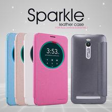 100% Genuine Nillkin sparkle smart leather case cover Asus ZenFone 2 ZenFone2 ZE551ML ZE550ML phone bag skin +retail package - Mahdy Store store