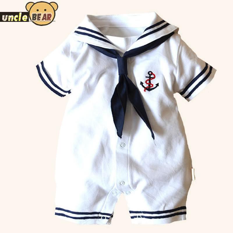 Algodão roupas de bebê para recém-nascido marinheiro bebê romper carters roupas de bebê macacão bebes crianças(China (Mainland))