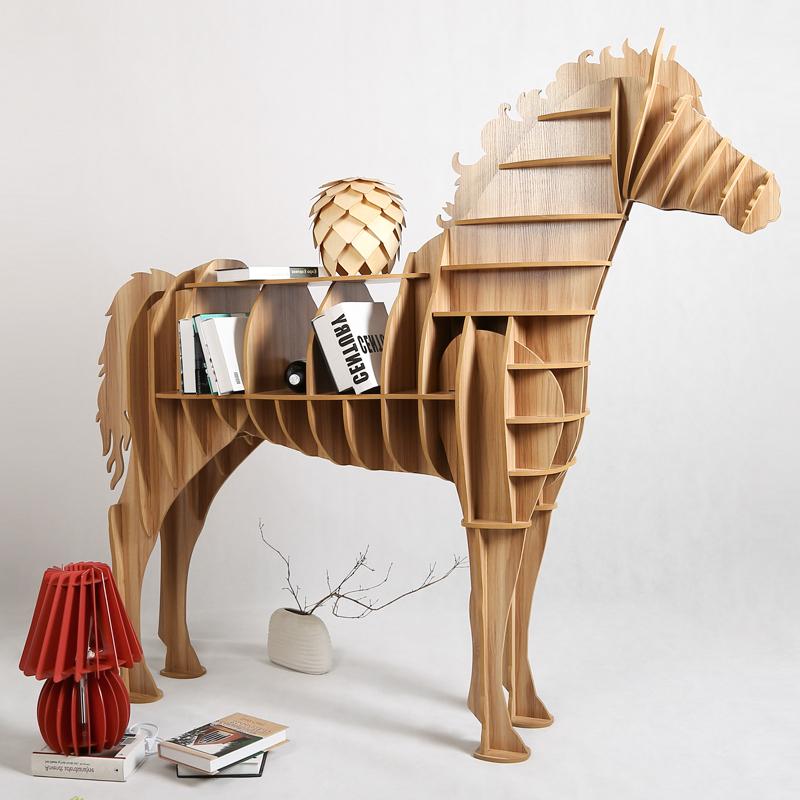 Moderno Basse Da Tavolo Creativo di Legno Grande Cavallo di Legno Del ...