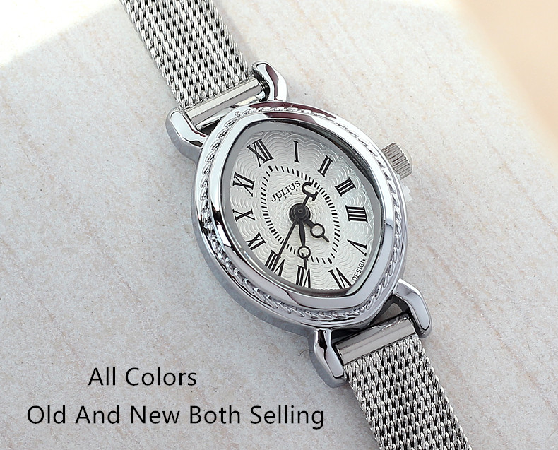 Women's Lady Wrist Watch Quartz Hours Best Fashion Dress Retro Bracelet Brand Steel Mini Girl Birthday Gift JA-568