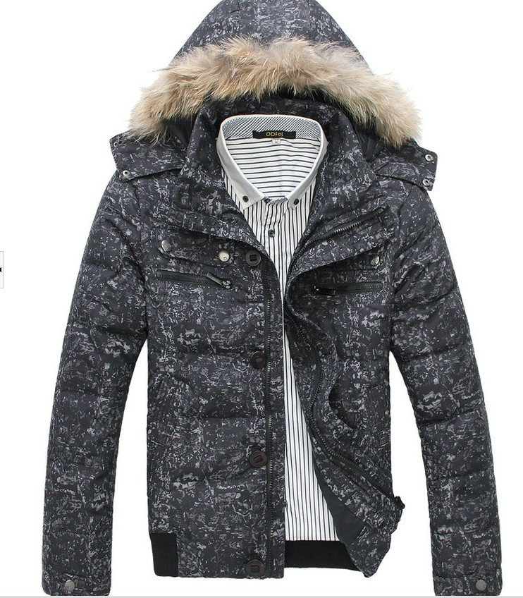 Fur Collar Men's Brand winter overcoat, Camouflage Outwear, Winter jacket, 3 colors, M-XXXL, Big Size wholesale